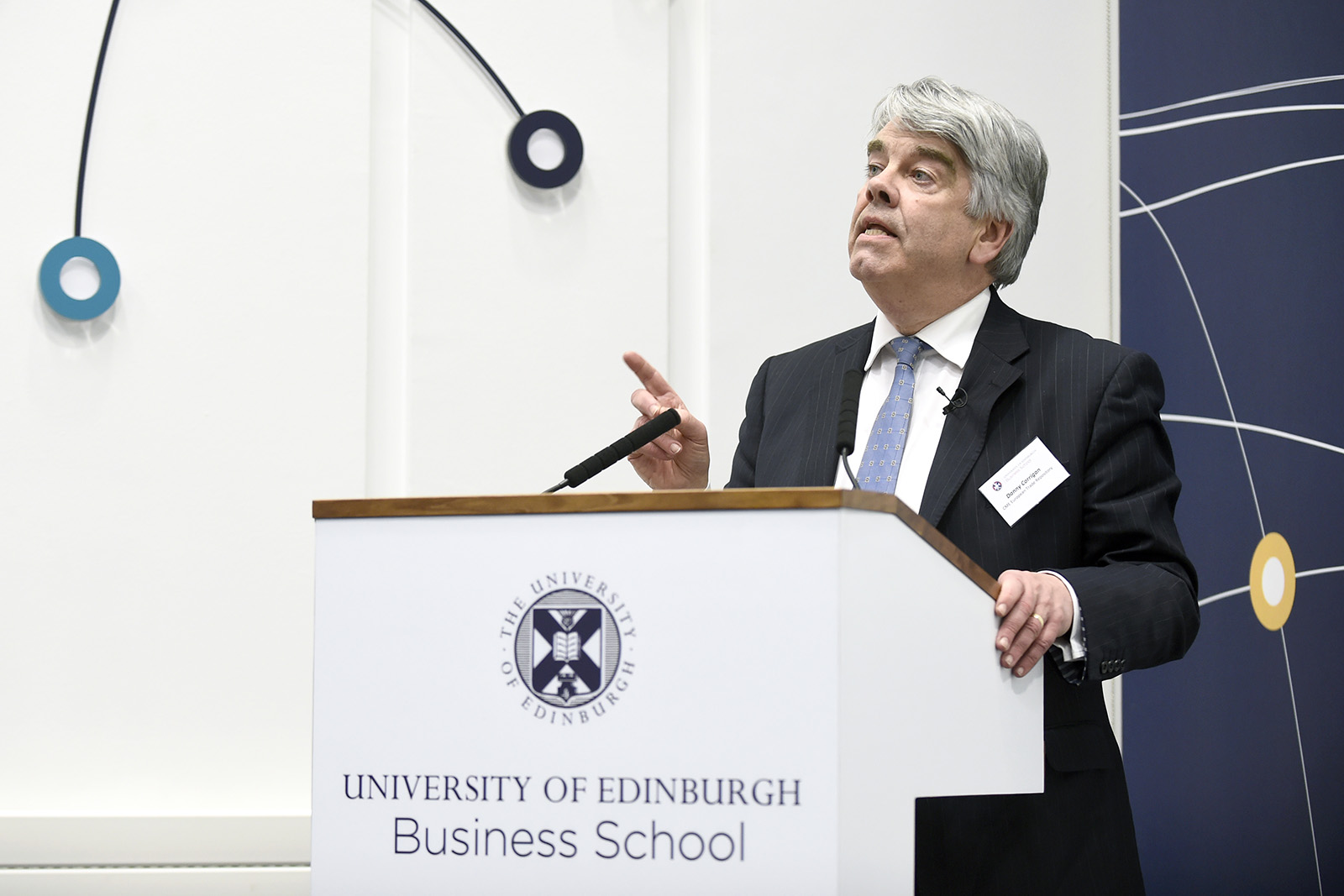 Danny Corrigan speaking at the Business School