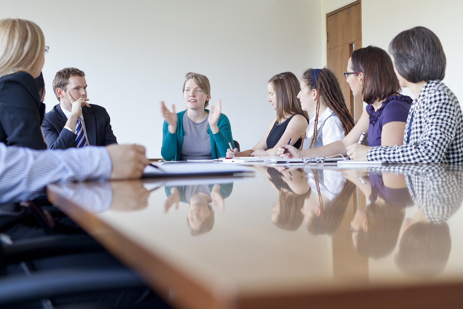 Staff in a meeting room