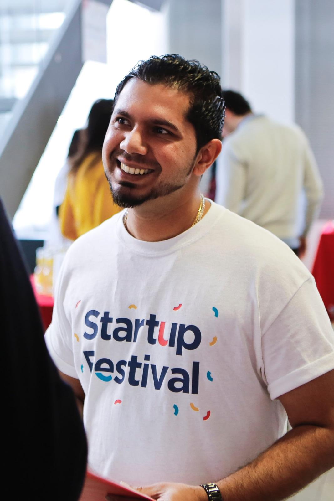 Startup Festival attendee