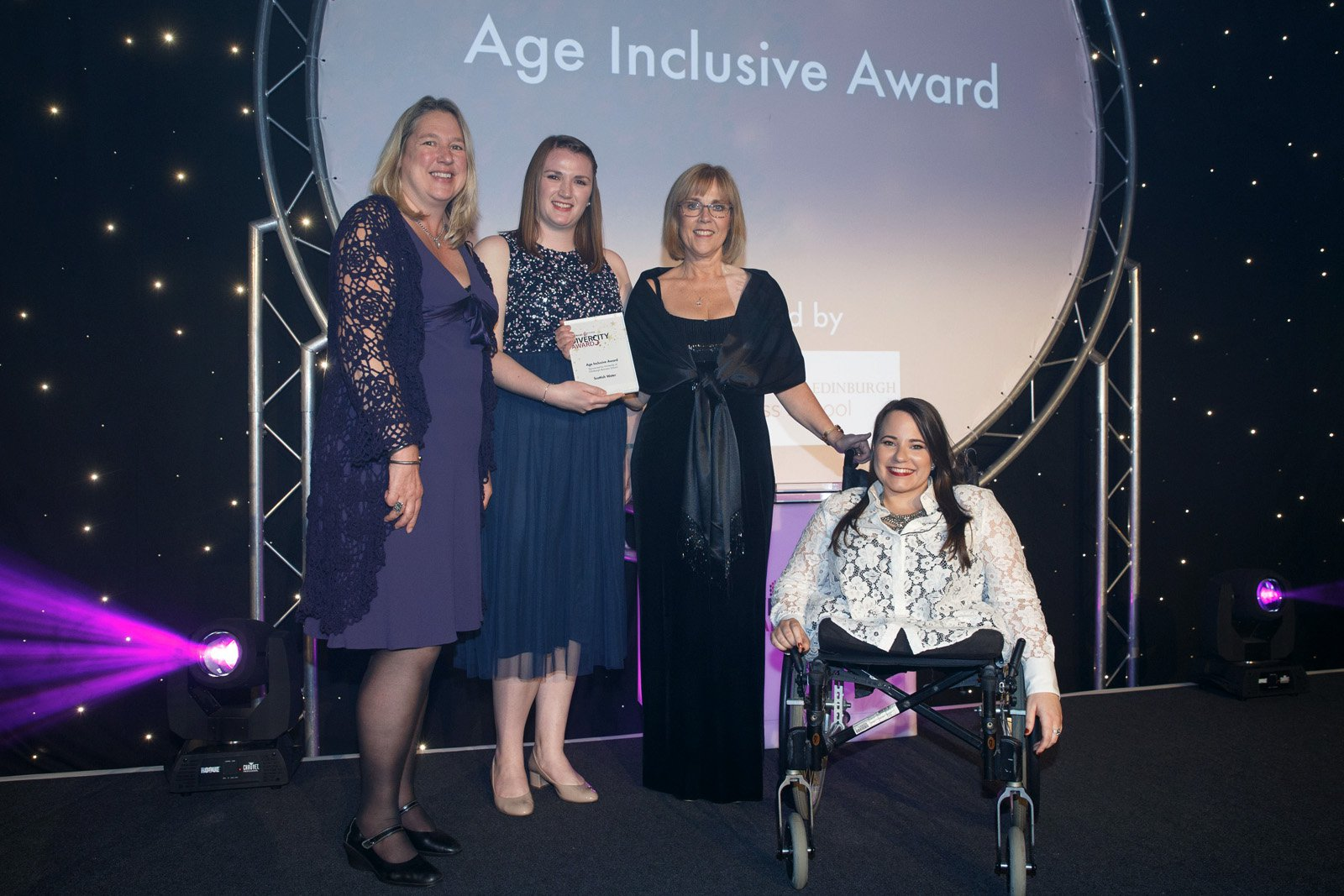 Wendy Loretto and Age Inclusive Award Winners Scottish Water