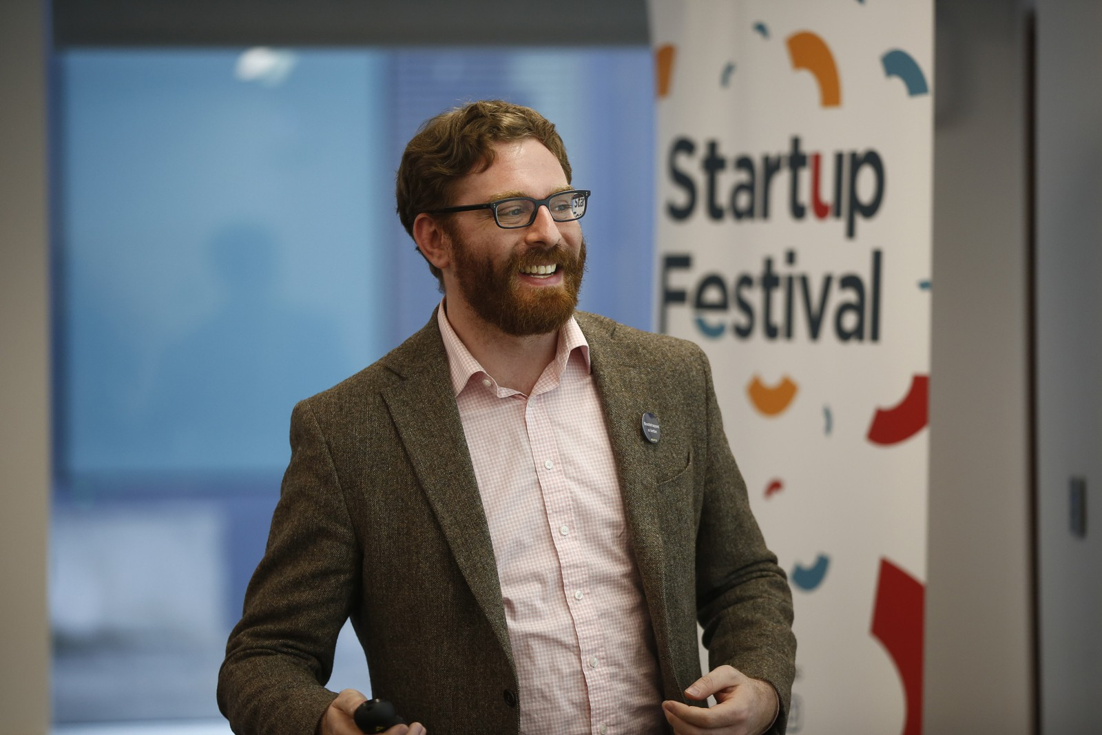 Ben Spigel at the Startup Festival