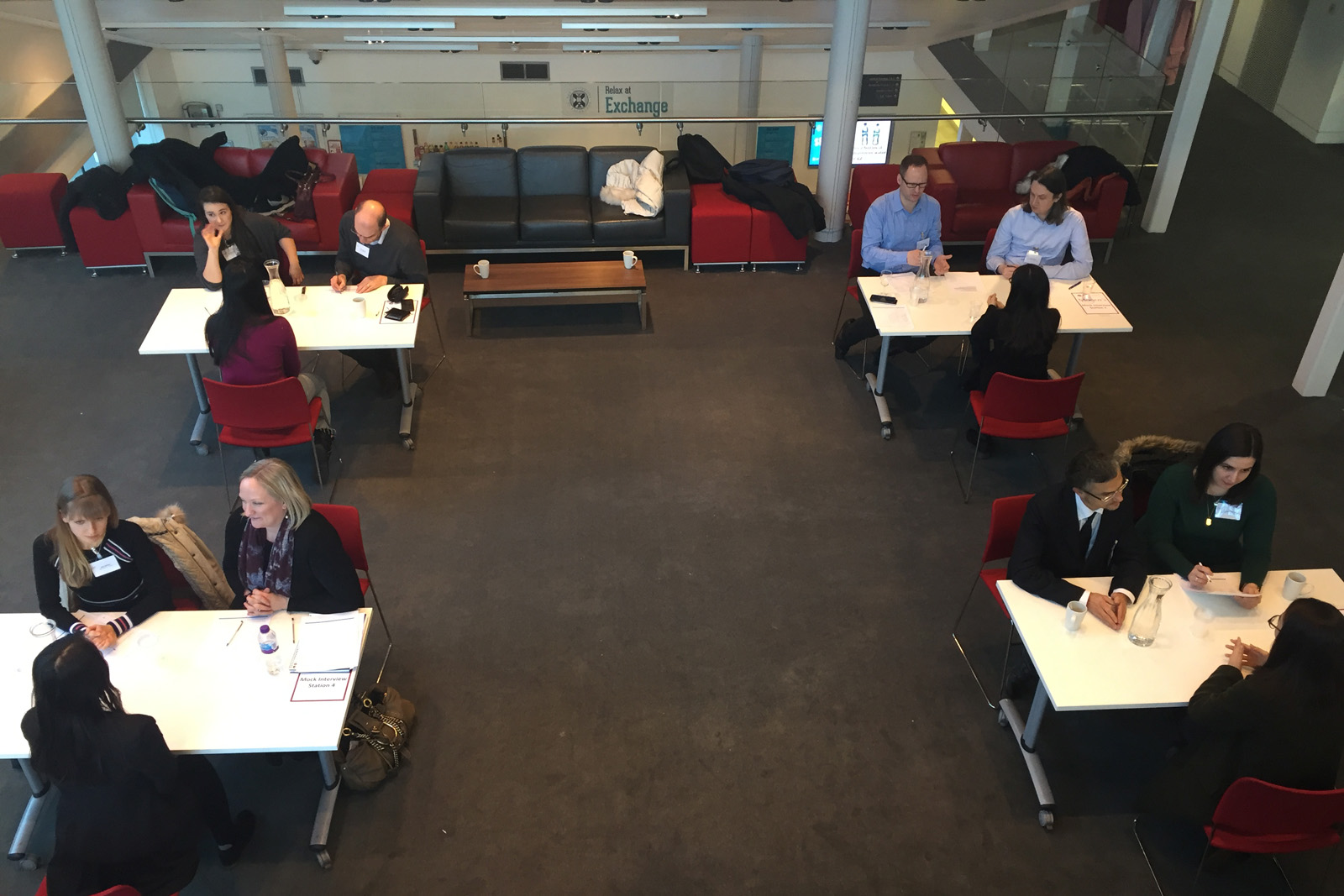 Moody's mock interviews on the concourse