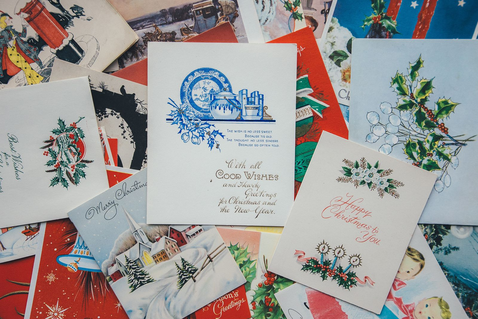 Production Game - Image of Christmas greeting cards
