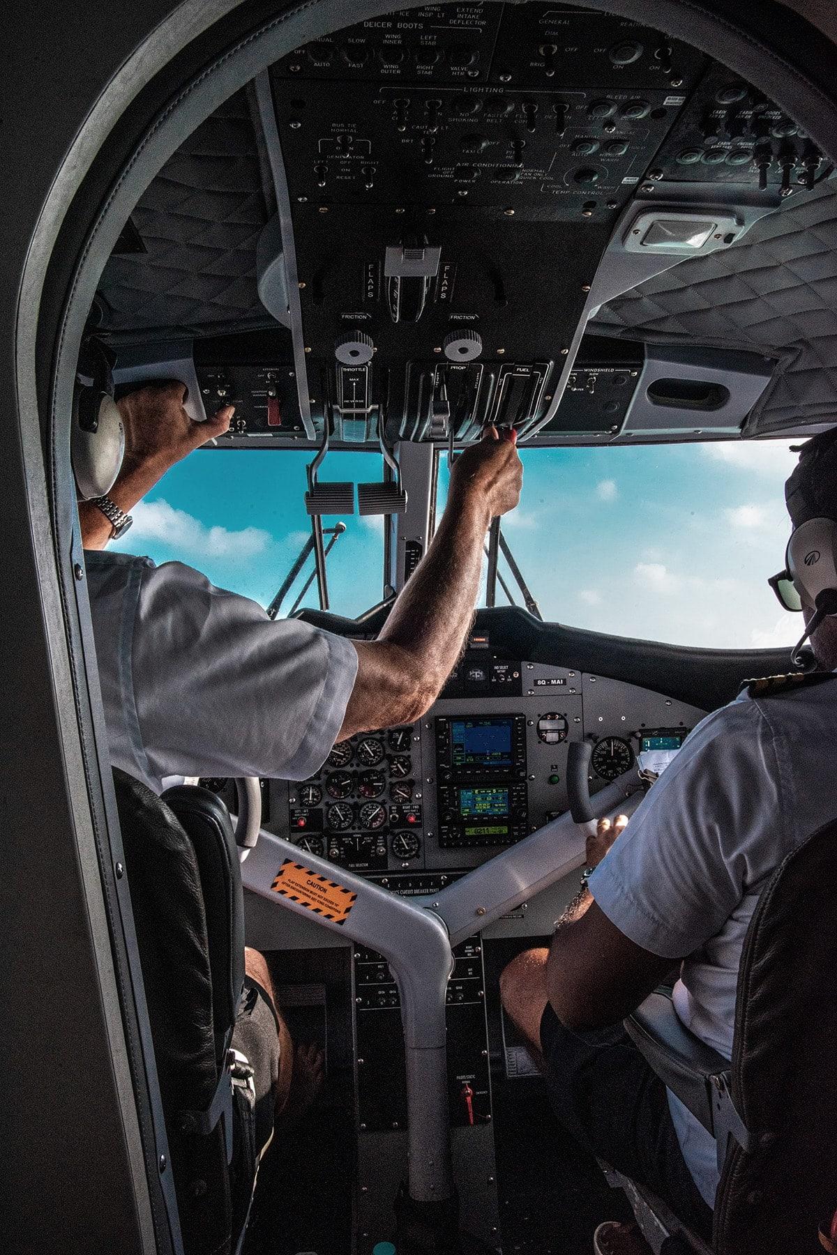 Cockpit with Pilots
