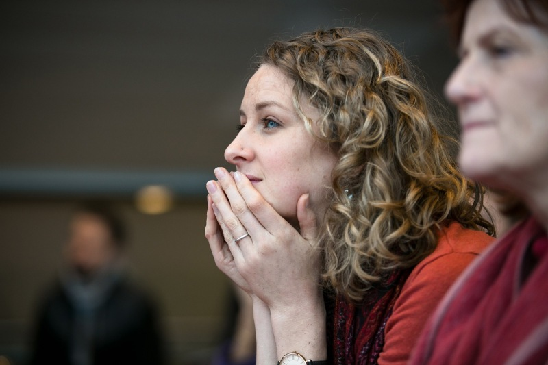 2 women listening to someone present. Copyright Eoin Carey
