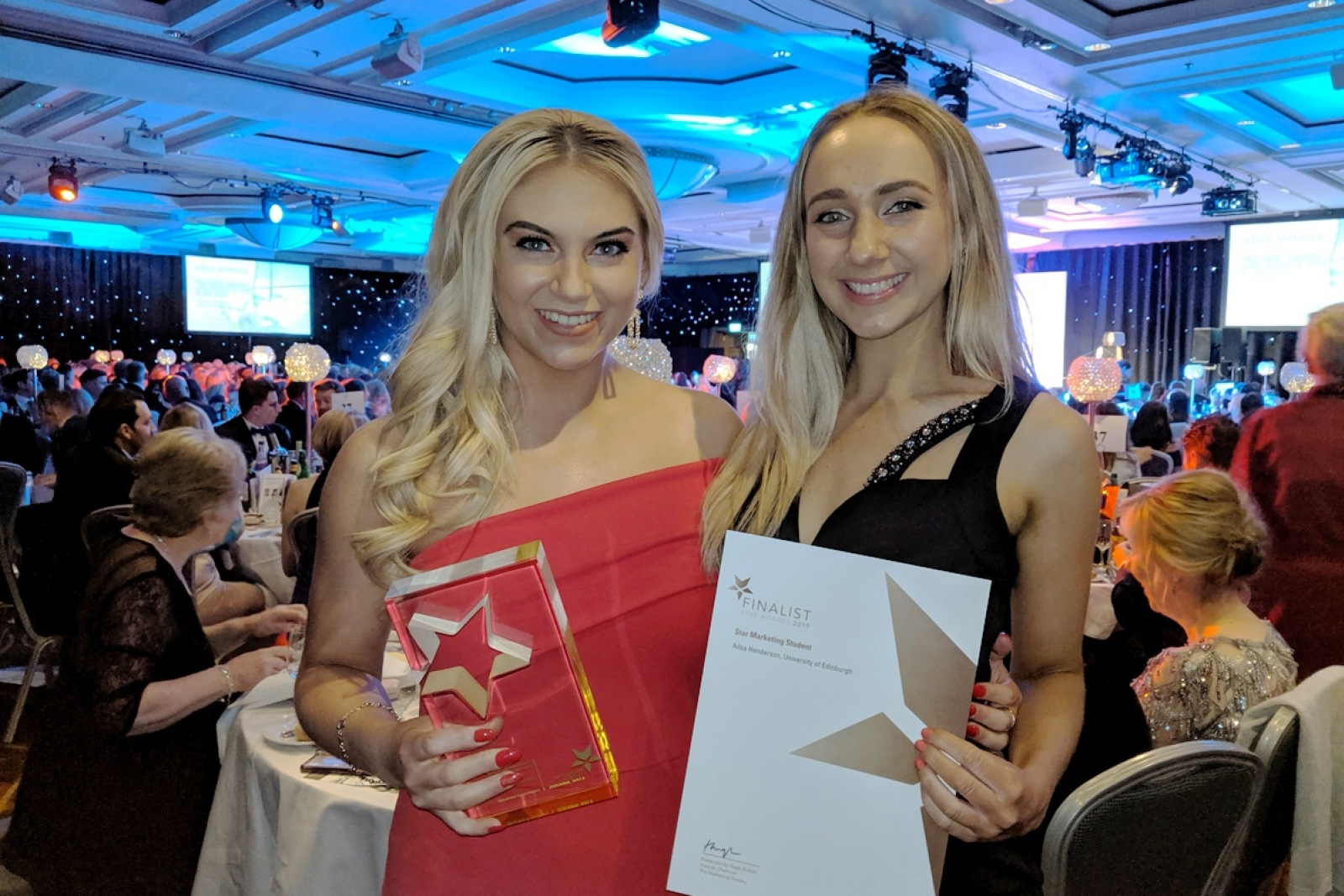 Sarah and Ailsa at the Marketing Society Scotland Awards