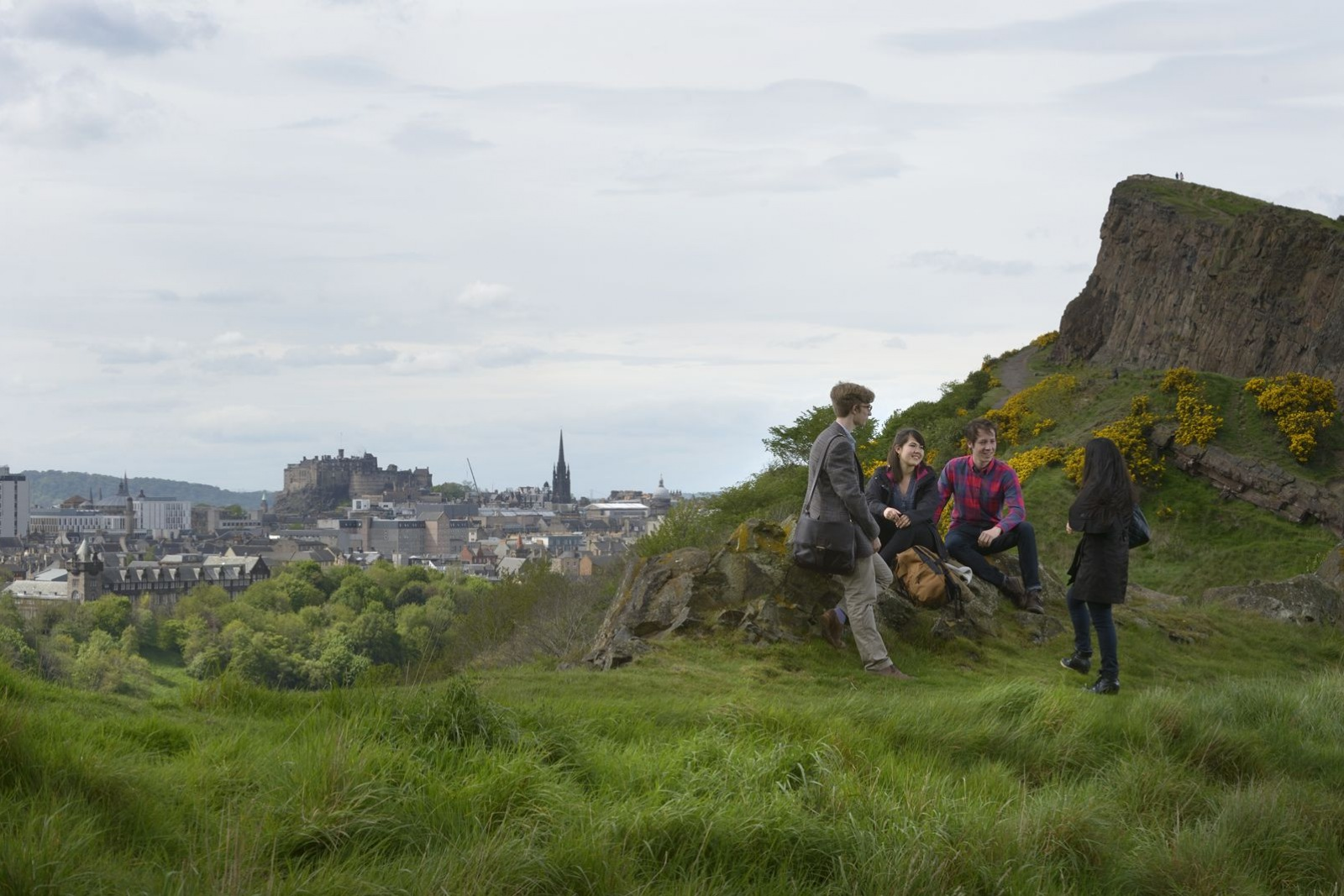 Students on Arthur's Seat | Photo By Alan Shedlock