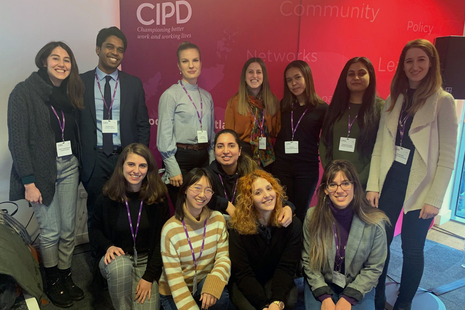 Student participants at the CIPD conference